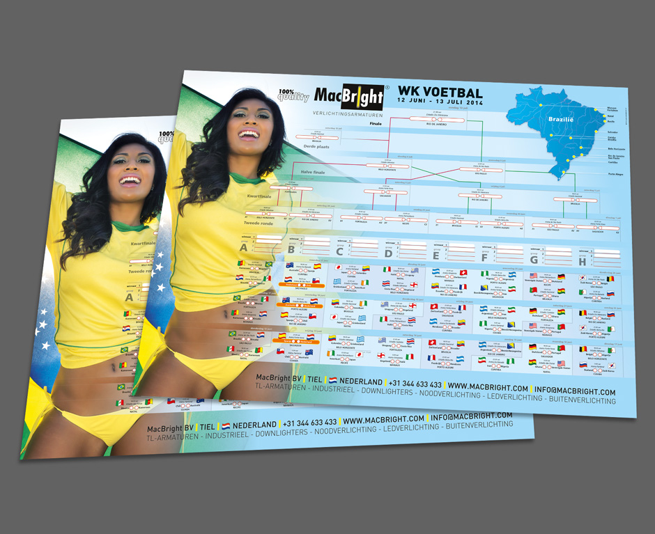 poster Brazilie WKvoetbal MacBright