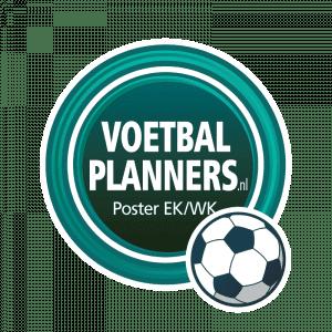 Voetbalplanners | Poster EK-WK speelschema voetbal